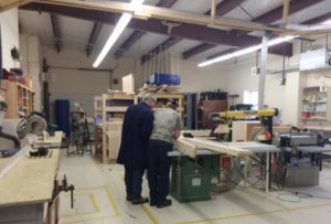Learning in the woodworking shop